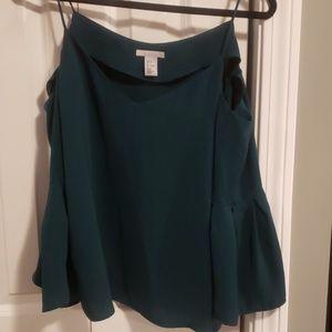 H&M flowy sleeve cold shoulder blouse